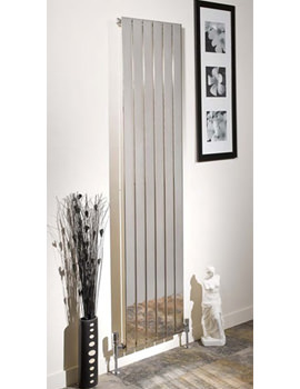 Apollo Capri 1800mm Height Vertical Chrome Single Panelled Radiator