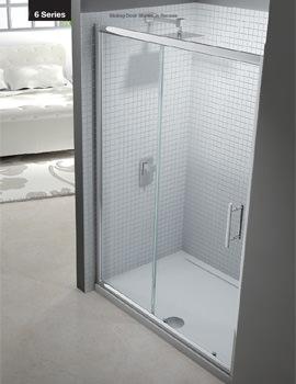 Merlyn 6 Series Sliding Shower Door - Width 1500 x Height 1900mm