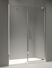 Merlyn 10 Series Pivot Door And Inline Panel 1600mm