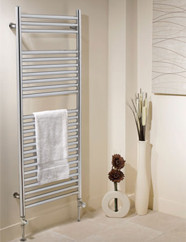 Apollo Venezia Contemporary Chrome Towel Warmer 500 x 1200mm