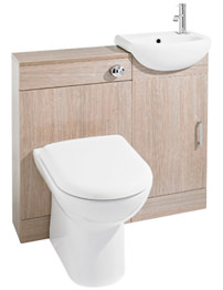 Lauren Sienna Light Oak Finish Cloakroom Furniture Pack