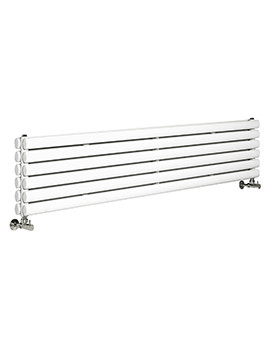 Hudson Reed Revive 1500 x 354mm White Double Panel Horizontal Radiator