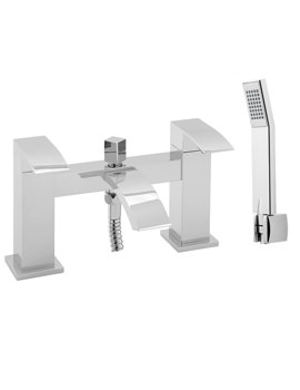 Deva Swoop Deck Mounted Bath Shower Mixer Tap With Kit Chrome