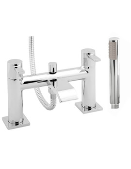 Deva Linx Deck Mounted Bath Shower Mixer Tap With Kit Chrome