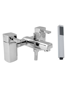 Deva Rubic Deck Mounted Bath Shower Mixer Tap With Kit Chrome