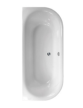 Aquaestil Metauro 1 White 1800 x 800mm Double Ended Bath