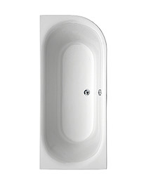 Aquaestil Metauro 2 White 1800 x 800mm Left Handed Bath