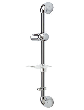 Deva Chrome Plated 630mm Shower Riser Rail