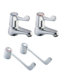 Deva Lever Action Basin Taps With 6 Inch Lever