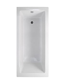 Aquaestil Plane Solo White Rectangular Bath