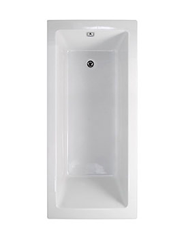 Aquaestil Plane Solo White 1700 x 750mm Rectangular Bath
