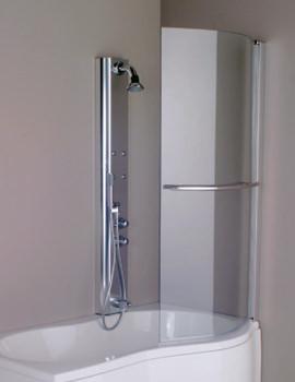 Aquaestil Parma 1500mm Right Handed Shower Screen