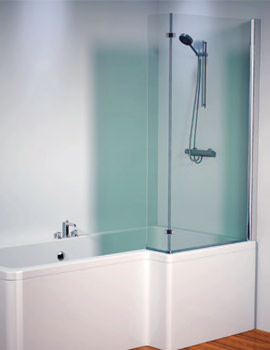 Aquaestil Thames 1500mm Right Hand Bath Shower Screen