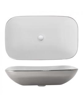 Bauhaus Gallery Serene Platinum Countertop Basin 580 x 350mm