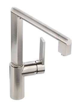 Abode Indus Single Lever Kitchen Tap Brushed Nickel