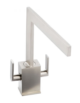Abode Edge Monobloc Kitchen Tap Brushed Nickel
