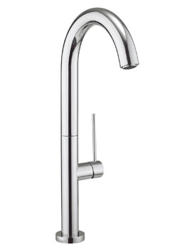 Crosswater Cucina Tube Round Side Lever Chrome Kitchen Sink Mixer Tap