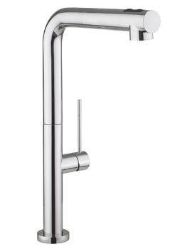 Crosswater Cucina Tube Chrome Kitchen Mixer Tap With 2 Function Spray