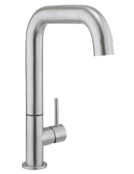 Crosswater Cucina Tube Side Lever Stainless Steel Kitchen Sink Mixer Tap
