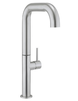 Crosswater Cucina Tube Tall Side Lever Stainless Steel Kitchen Mixer Tap
