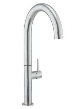 Crosswater Cucina Tube Round Tall Stainless Steel Kitchen Sink Mixer Tap