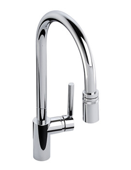 Abode Ratio Single Lever With Pull Out Kitchen Tap Chrome