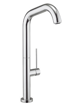 Crosswater Cucina Tube Side Lever Chrome Kitchen Sink Mixer Tap