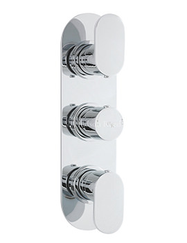 Hudson Reed Reign Chrome Triple Concealed Thermostatic Shower Valve