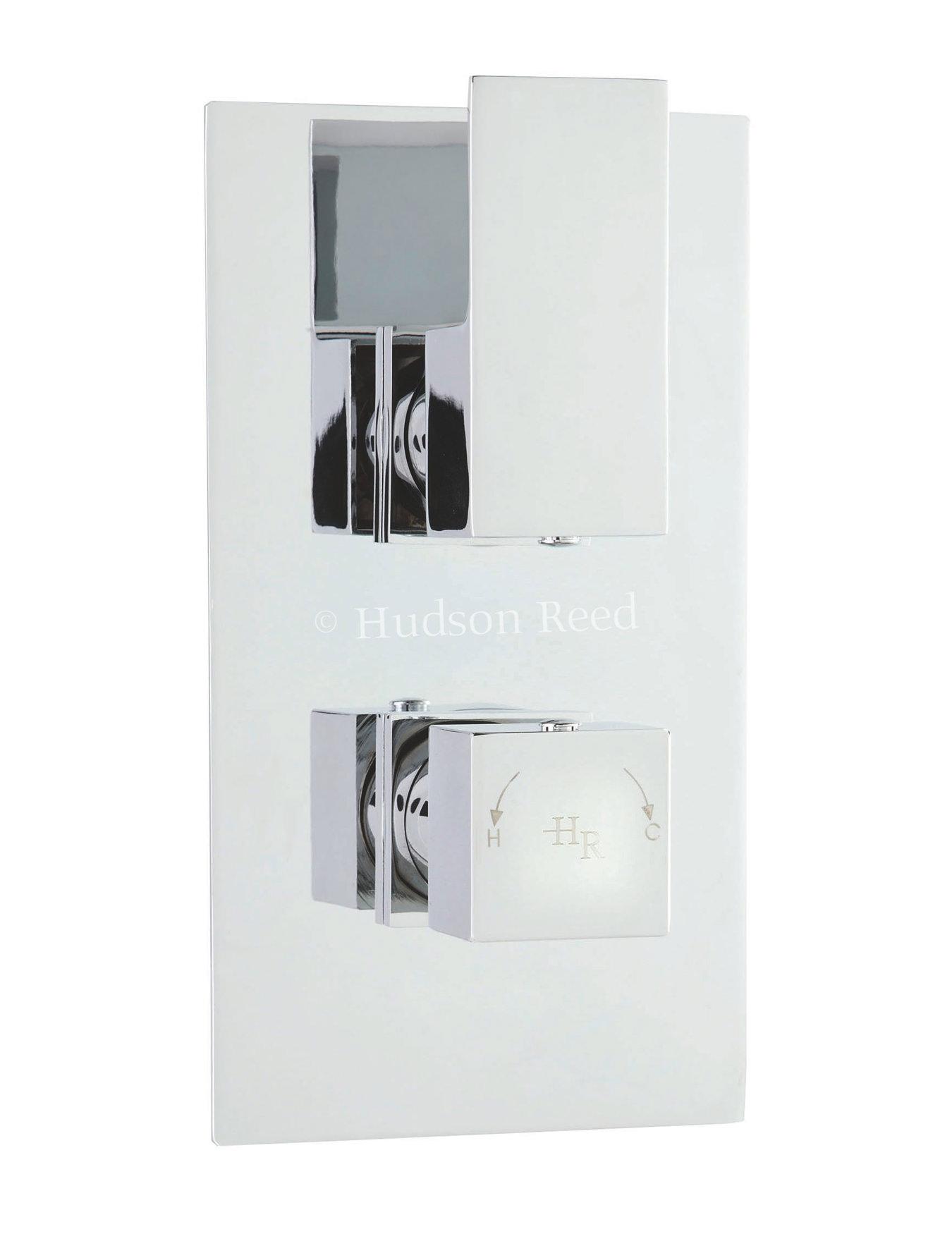 hudson reed art twin thermostatic shower valve with diverter. Black Bedroom Furniture Sets. Home Design Ideas