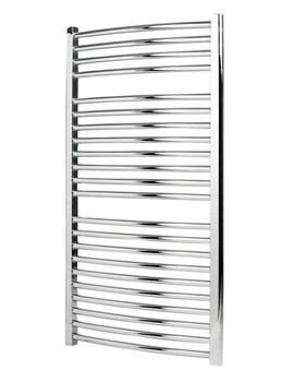 Apollo Napoli Curved Electric Heated Towel Rail 450 x 1100mm White
