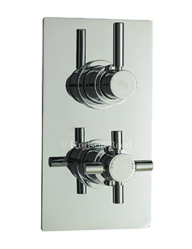 Hudson Reed Tec Pura Chrome Twin Concealed Thermostatic Shower Valve