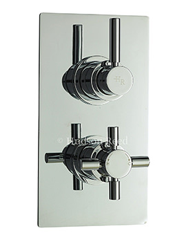 Hudson Reed Tec Pura Twin Thermostatic Shower Valve With Diverter