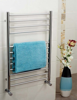 Apollo Garda 400mm x 1200mm Polished Stainless Steel Towel Warmer