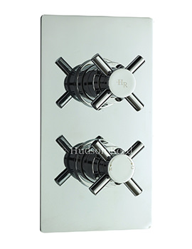 Hudson Reed Kristal Chrome Twin Thermostatic Concealed Shower Valve