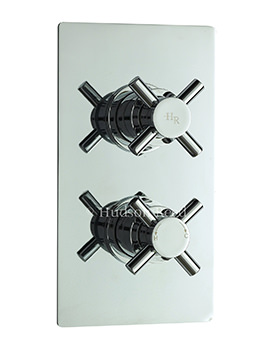 Hudson Reed Kristal Twin Thermostat Shower Valve With Diverter
