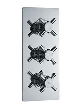 Hudson Reed Kristal Triple Thermostat Concealed Valve With Diverter