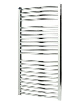 Apollo Napoli Curved Electric Heated Towel Rail 500 x 1700mm White
