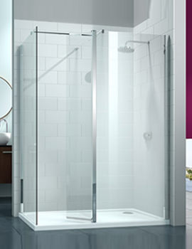 Merlyn 8 Series 1700 x 800mm Walk In With Swivel Panel And End Panel