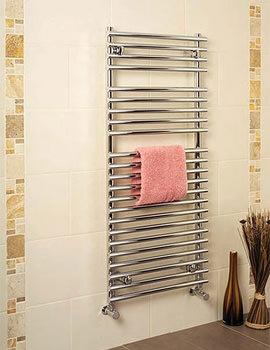 Apollo Pavia 500 x 1200mm Tube On Tube Towel Warmer White