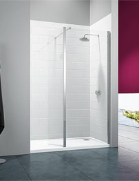 Merlyn 8 Series Wetroom Shower Panel 700mm With Swivel Panel