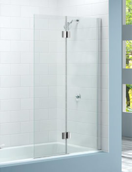 Merlyn 2 Panel Hinged Bath Screen 900 x 1500mm Left Handed