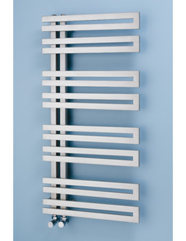Apollo Geneva Offset Stainless Steel Towel Rail 500 x 1500mm