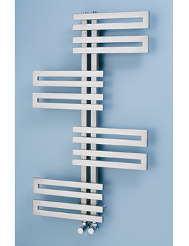 Apollo Geneva Wave Stainless Steel Towel Rail 600 x 1000mm
