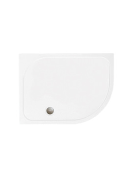 Merlyn Mstone RH Offset Quadrant Shower Tray With Waste - 900 x 760mm