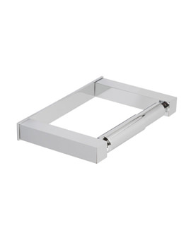 Vado Square Chorme Plated Covered Toilet Roll Holder