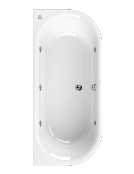 Aquaestil Metauro 1 1800 x 800mm Whirlpool Bath With 6 Jets