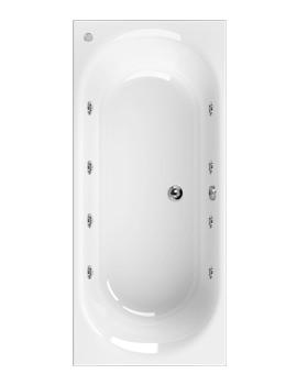 Aquaestil Metauro 3 1800 x 800mm Whirlpool Bath With 8 Jets