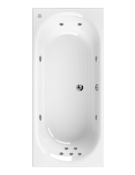 Aquaestil Metauro 3 1800 x 800mm Whirlpool Bath With 11 Jet