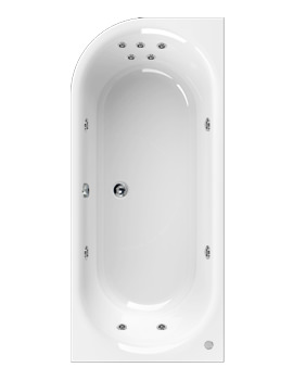 Aquaestil Metauro 2 1800 x 800mm Right Handed 11 Jets Whirlpool Bath