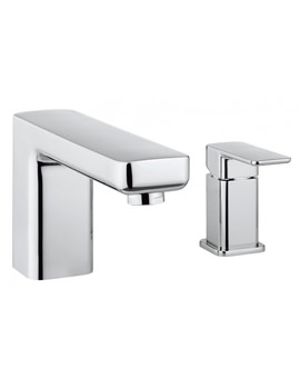 Crosswater Atoll Deck Mounted Chrome Bath Filler Mixer Tap